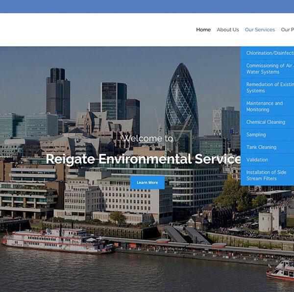 Ιστοσελίδα Reigate-Environmental
