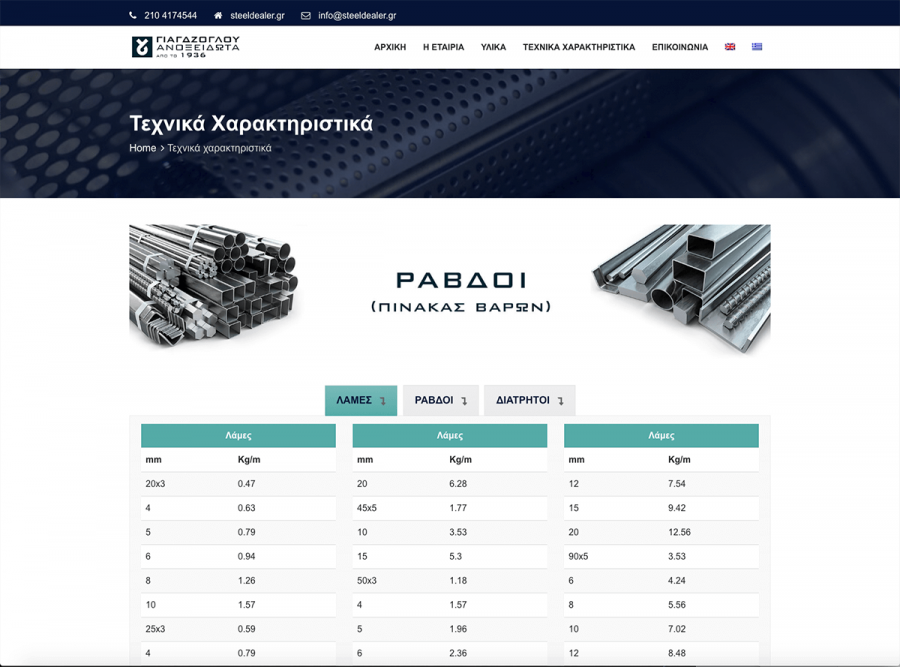 Κατασκευή εταιρικής ιστοσελίδας Γιαγδζόγλου